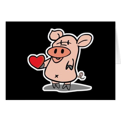 valentine heart piggy cards