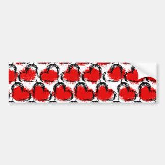 Valentine Heart Rows Bumper Sticker