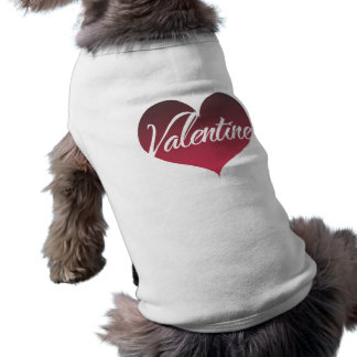 Valentine Heart Sleeveless Dog Shirt