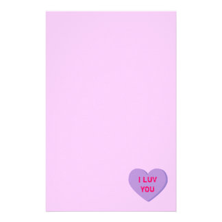 Valentine Heart Stationery Design