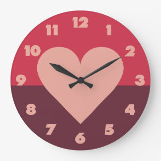 Valentine Heart wall clock