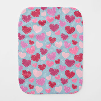 Valentine Hearts Burp Cloth