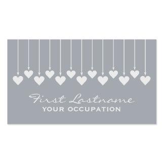 Valentine Hearts custom business cards