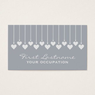 Valentine Hearts custom business cards