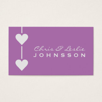 Valentine Hearts custom Business / Thank You cards