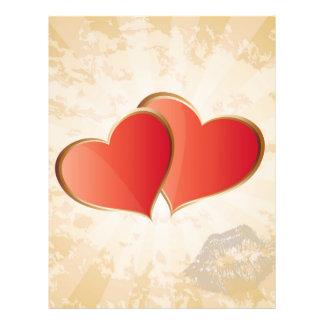 Valentine hearts 21.5 cm x 28 cm flyer