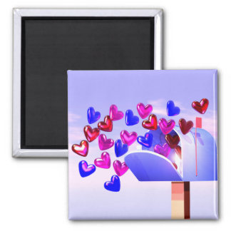 Valentine Hearts Mailbox Magnet