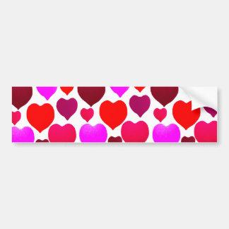 Valentine Hearts Pattern Bumper Sticker
