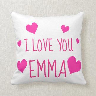Valentine Hearts Personalized I Love You Cushion