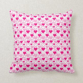 Valentine Hearts Throw Pillow Cushion