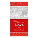 Valentine Hearts Vertical Photo Cards