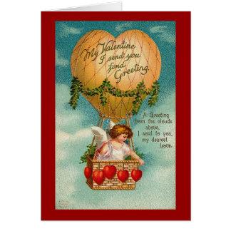 Valentine Hot Air Balloon 2 Greeting Card