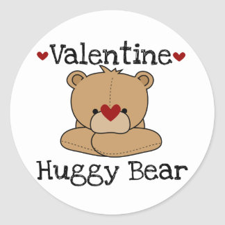 Valentine Huggy Bear Stickers