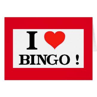 Valentine I Love Bingo and You Greeting Card