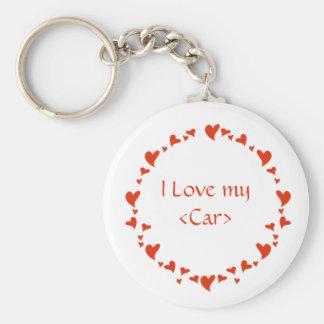 Valentine Basic Round Button Key Ring