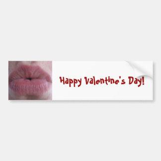 Valentine Kiss Bumper Sticker