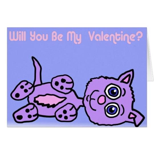 Valentine Kitty Card