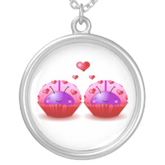 Valentine Ladybug Cupcakes Necklace