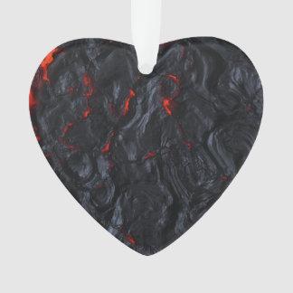 valentine lava heart pendant necklace ornament