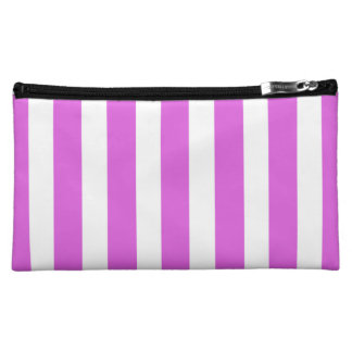 Valentine Lilac and White Stripes Makeup Bags