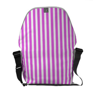 Valentine Lilac and White Stripes Courier Bag