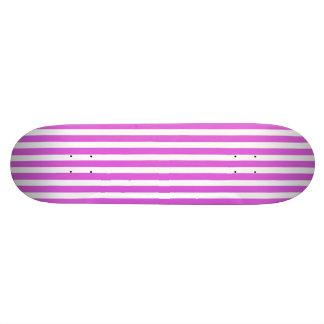 Valentine Lilac and White Stripes Skate Deck