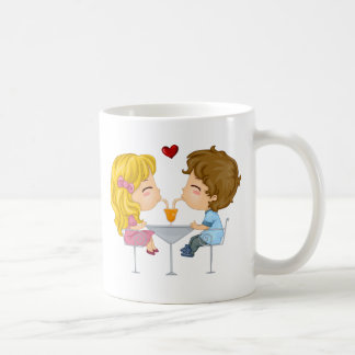 Valentine Lily and her date Coffee Mugs