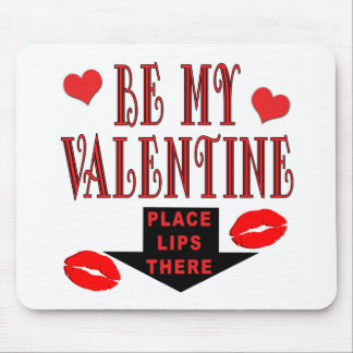 Valentine Lips Mouse Pad