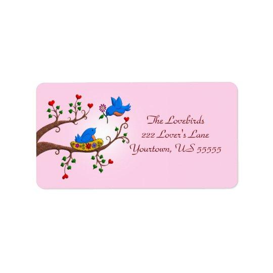 Valentine Love Birds Address Label