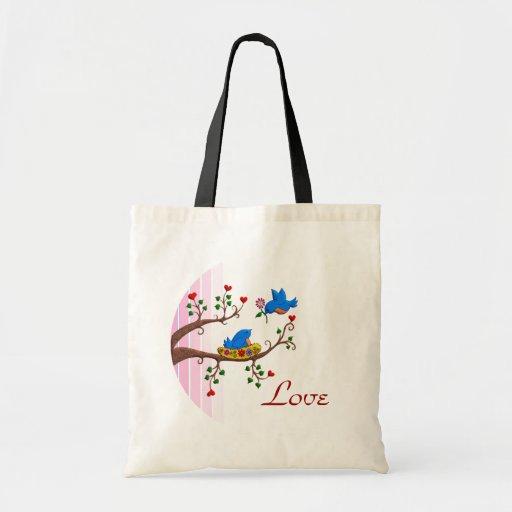 Valentine Love Birds Bag