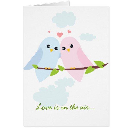Valentine Love Birds Cards