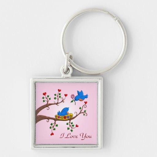 Valentine Love Birds Key Chains