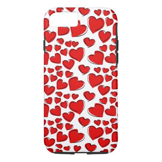 Valentine Love Hearts iPhone 7 Case