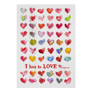 Valentine Love Hearts Poster