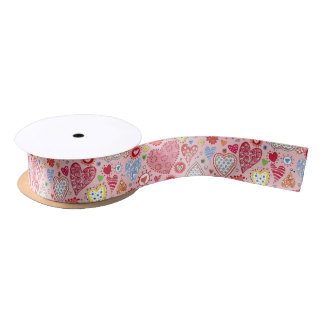 Valentine Love Hearts | Ribbon Satin Ribbon