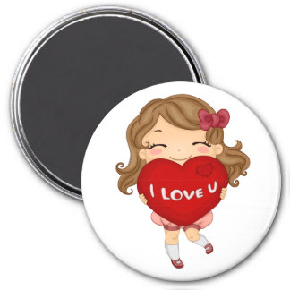Valentine Minny Magnet