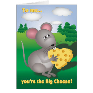 Valentine Mouse with Cheese Card
