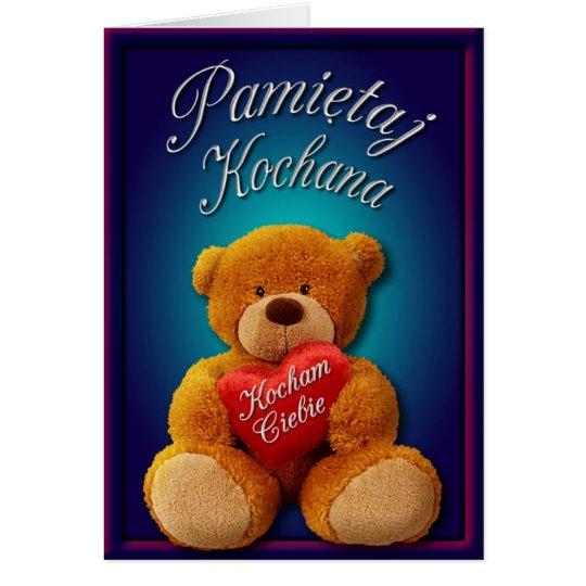 Valentine Notecard in Polish
