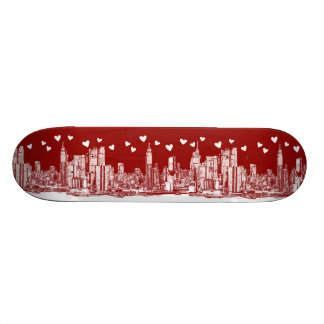 valentine NYC skyline 19.7 Cm Skateboard Deck