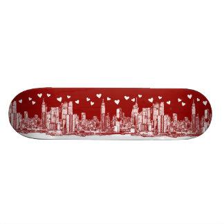 valentine NYC skyline Skate Boards