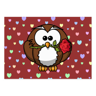 Valentine owl pack of chubby business cards