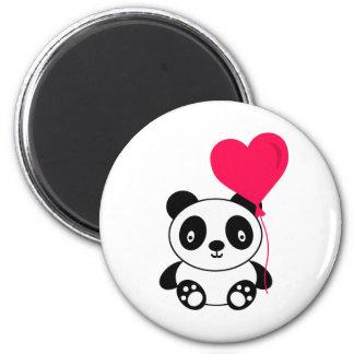 Valentine Panda 6 Cm Round Magnet