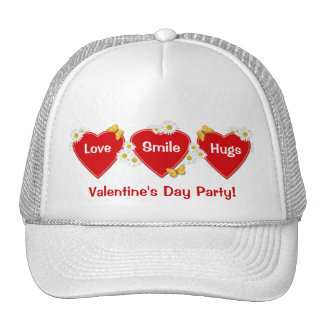 Valentine Party Daisy Butterfly Hat