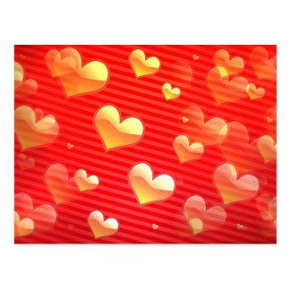 Valentine Pattern Postcard