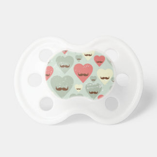 Valentine pattern with heart and mustache dummy
