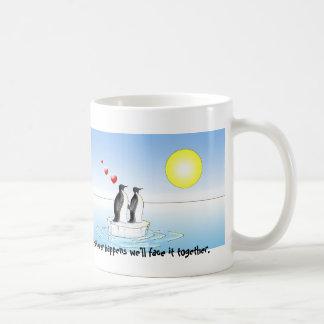 valentine penguins, whatever happens basic white mug
