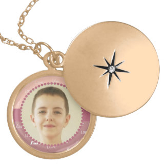 Valentine Personalized Circle Photo Frame Necklace