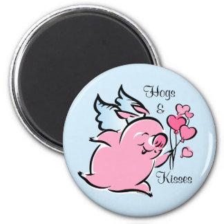 Valentine Pig Personalized Magnet