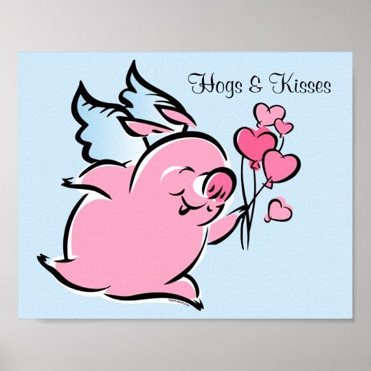 Valentine Pig Poster