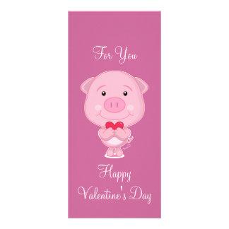 Valentine pig Rack Card